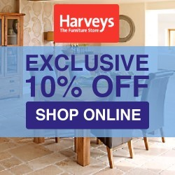 Harveys exclusive 10 off May RHS