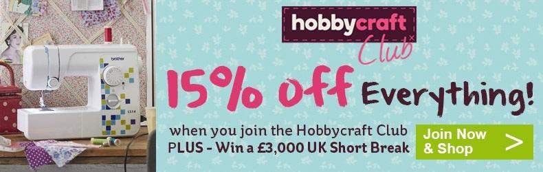Hobbycraft 15 off discount slider