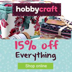 Hobbycraft 15% offer October RHS
