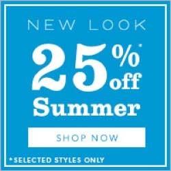 New Look 25 off June july rhs
