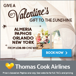 Thomas Cook Airlines Valentines Offer 8th Feb RHS