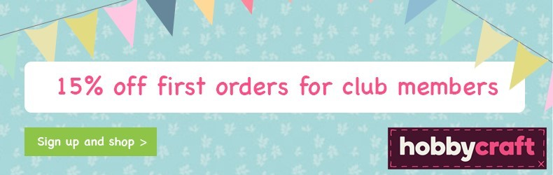 Hobbycraft First orders discount slider
