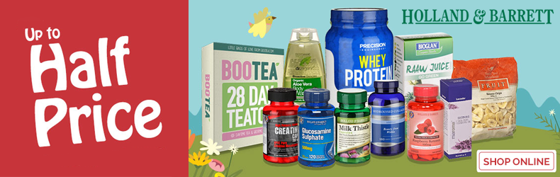 Holland and Barrett half price sale