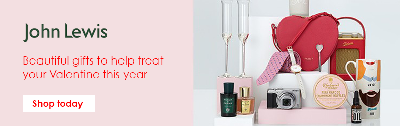 John Lewis Valentines gifts