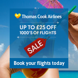 Thomas Cook Airlines January flights sale RHS
