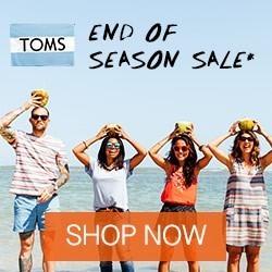 Toms end of season July sale RHS