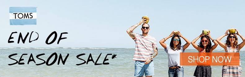 Toms end of season July sale