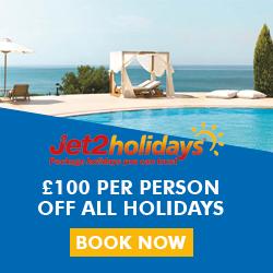 Jet2Holidays £100 off all holidays