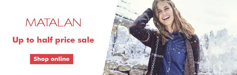Matalan half price sale October