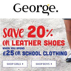 ASDA GEORGE Back to School offer RHS