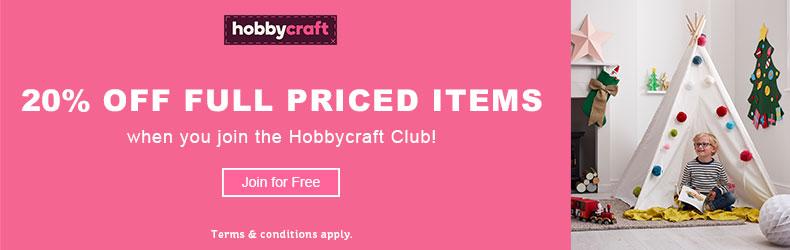 Hobbycraft 20 off Oct deal