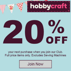 Hobbycraft 20% off October deal