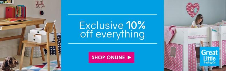 GLTC 10% off site wide exclusive slider